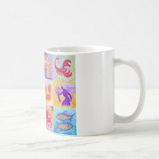 12 Zodiac signs pastel Coffee Mug