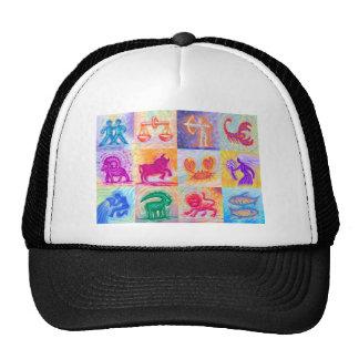 12 Zodiac signs pastel Trucker Hat