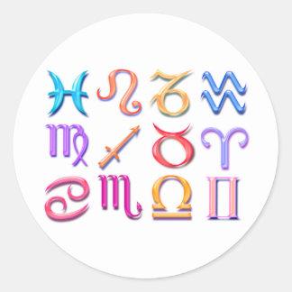 12 Zodiac signs Sticker