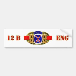 12B 10th Mountain Division Car Bumper Sticker