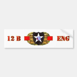 12B 2nd Infantry Division Bumper Sticker