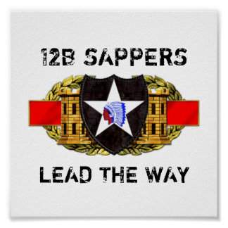 12B 2nd Infantry Division Poster