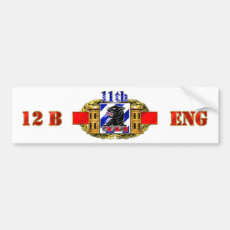 12B 3rd ID 11th Engineer Battalion Bumper Sticker