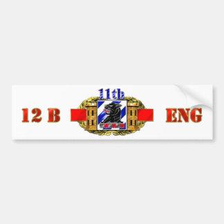 12B 3rd ID 11th Engineer Battalion Bumper Sticker