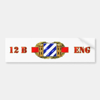 12B 3RD Infantry Division Bumper Sticker