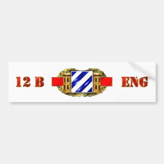 12B 3RD Infantry Division Bumper Sticker