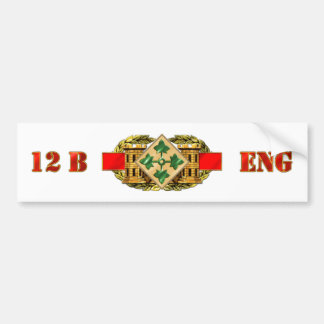 12B 4th Infantry Division Car Bumper Sticker