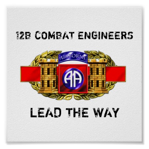 12B 82nd Airborne Division Poster