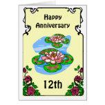 12ma tarjeta del aniversario - lirios de agua