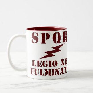 12ma taza de café romana de la legión de Julio