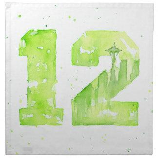 12mas servilletas del arte del hombre de Seattle