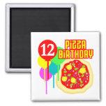 12mo Cumpleaños de la pizza del cumpleaños Iman Para Frigorífico