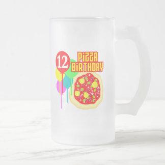 12mo Cumpleaños de la pizza del cumpleaños Taza De Café