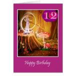 12mo cumpleaños feliz para el chica con la hada du felicitación