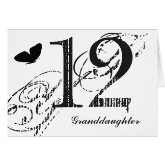 12mo cumpleaños para una nieta, mariposa tarjeta de felicitación