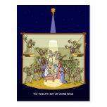 12mo Día de postal del navidad (12 baterías)