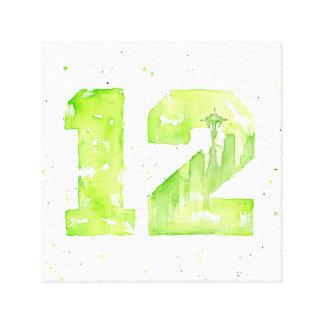 12mo Impresión de la lona de la acuarela de Impresion En Lona