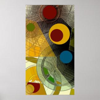 12mo mapa - poster abstracto