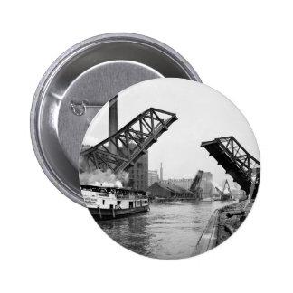 12mo Puente de báscula de la calle Chicago Illinoi Pins