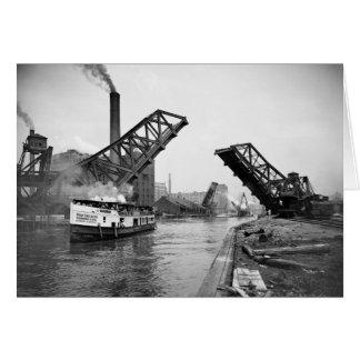 12mo Puente de báscula de la calle Chicago Illinoi Felicitaciones
