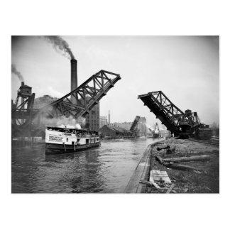 12mo Puente de báscula de la calle Chicago Illinoi Postal