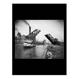 12mo Puente de báscula de la calle Chicago Illinoi Tarjetas Postales
