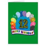 12mo Regalos de cumpleaños con diseño clasificado  Tarjeta
