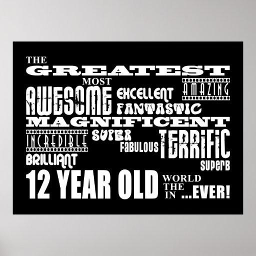 12mos años más grandes de la fiesta de cumpleaños  posters