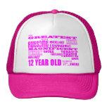 12mos cumpleaños de los chicas: 12 años más grande gorros