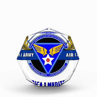"12TH ARMY AIR FORCE ""ARMY AIR CORPS "" WW II ACRYLIC AWARD"