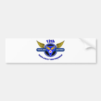 "12TH ARMY AIR FORCE ""ARMY AIR CORPS "" WW II CAR BUMPER STICKER"