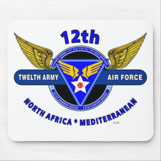 """12TH ARMY AIR FORCE """"ARMY AIR CORPS """" WW II MOUSE PAD"""