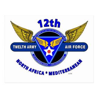 "12TH ARMY AIR FORCE ""ARMY AIR CORPS "" WW II POSTCARD"