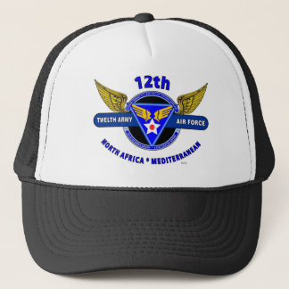 "12TH ARMY AIR FORCE ""ARMY AIR CORPS "" WW II TRUCKER HAT"