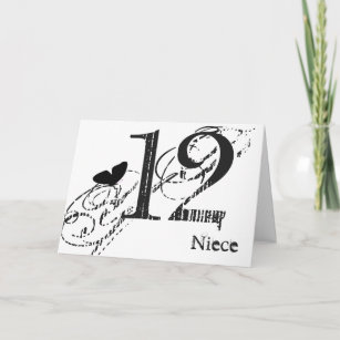 black and white butterfly birthday cards zazzle Gifts for Girls 14th Birthday 12th birthday for a niece black butterfly text card