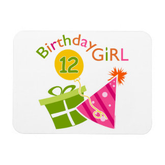 12th Birthday Girl Magnet