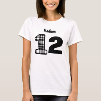12th Birthday Girl Plaid or 10 thru 19 YEARS T-Shirt