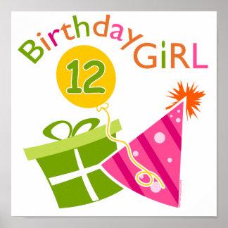 12th Birthday Girl Print