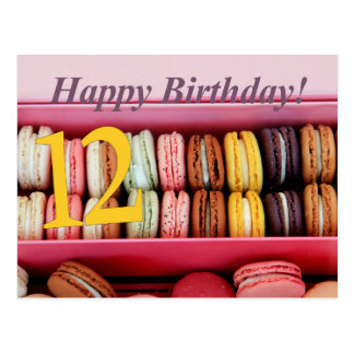 12th Birthday Macaron Card