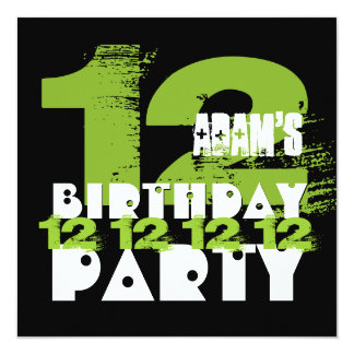 12 year old birthday party invitations amp announcements zazzle