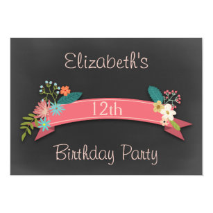 12th Birthday Invitations Announcements Zazzle