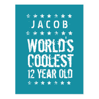 12th Birthday World's Coolest 12 Year Old Teal T12 Postcard