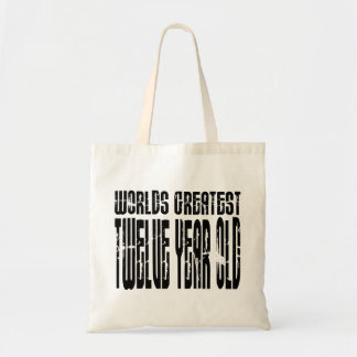 12th Birthday : Worlds Greatest Twelve Year Old Canvas Bags