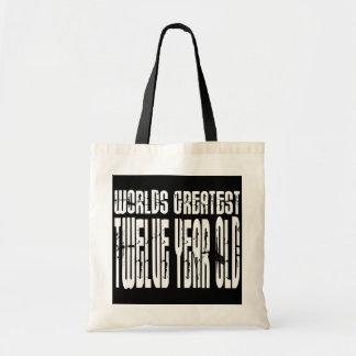 12th Birthday : Worlds Greatest Twelve Year Old Canvas Bag