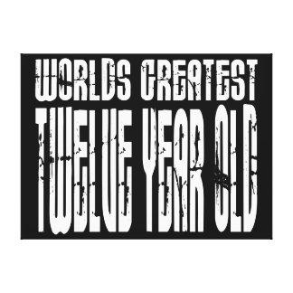 12th Birthday : Worlds Greatest Twelve Year Old Canvas Prints
