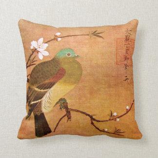12th Century Dynasty Bird on a Peach Branch Throw Pillow