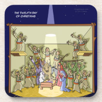 12th Day of Christmas (12 Drummers) Coaster