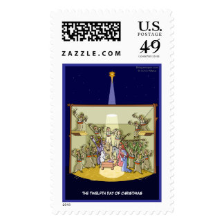 12th Day of Christmas (12 Drummers) Postage Stamp