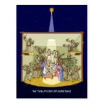 12th Day of Christmas (12 Drummers) Postcard