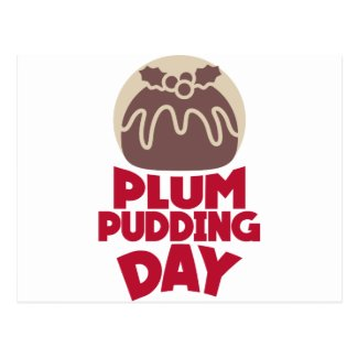 12th February - Plum Pudding Day Postcard
